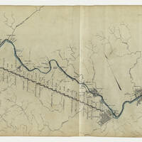 This map shows the Lehigh Division Canal from Mauch Chunk to Easton.